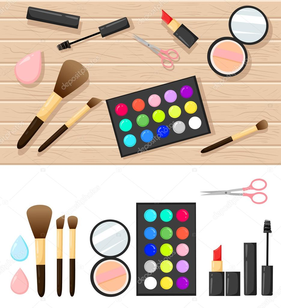 Flat Illustration Of Cosmetic Elements Vector Design Of Make Up