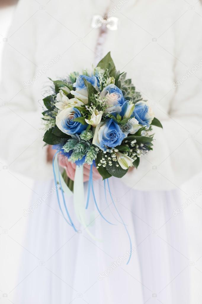 4612a41722a820 Весільний букет зимові — Стокове фото — білий © familylifestyle ...