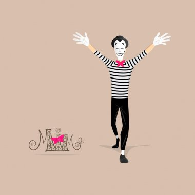Mime performance - open arms