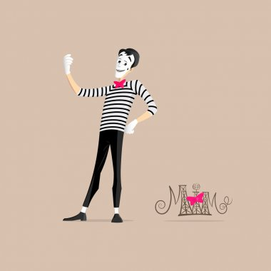 Mime performance - taking selfie