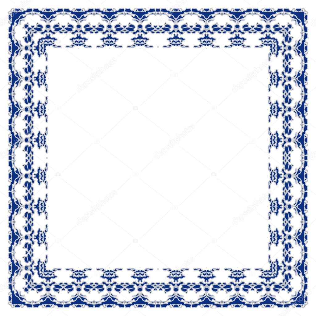 reich verzierten Rahmen Vektor — Stockvektor © tanuna #100312554