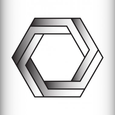 Optical illusion of the gradient vector, abstract geometric design element.