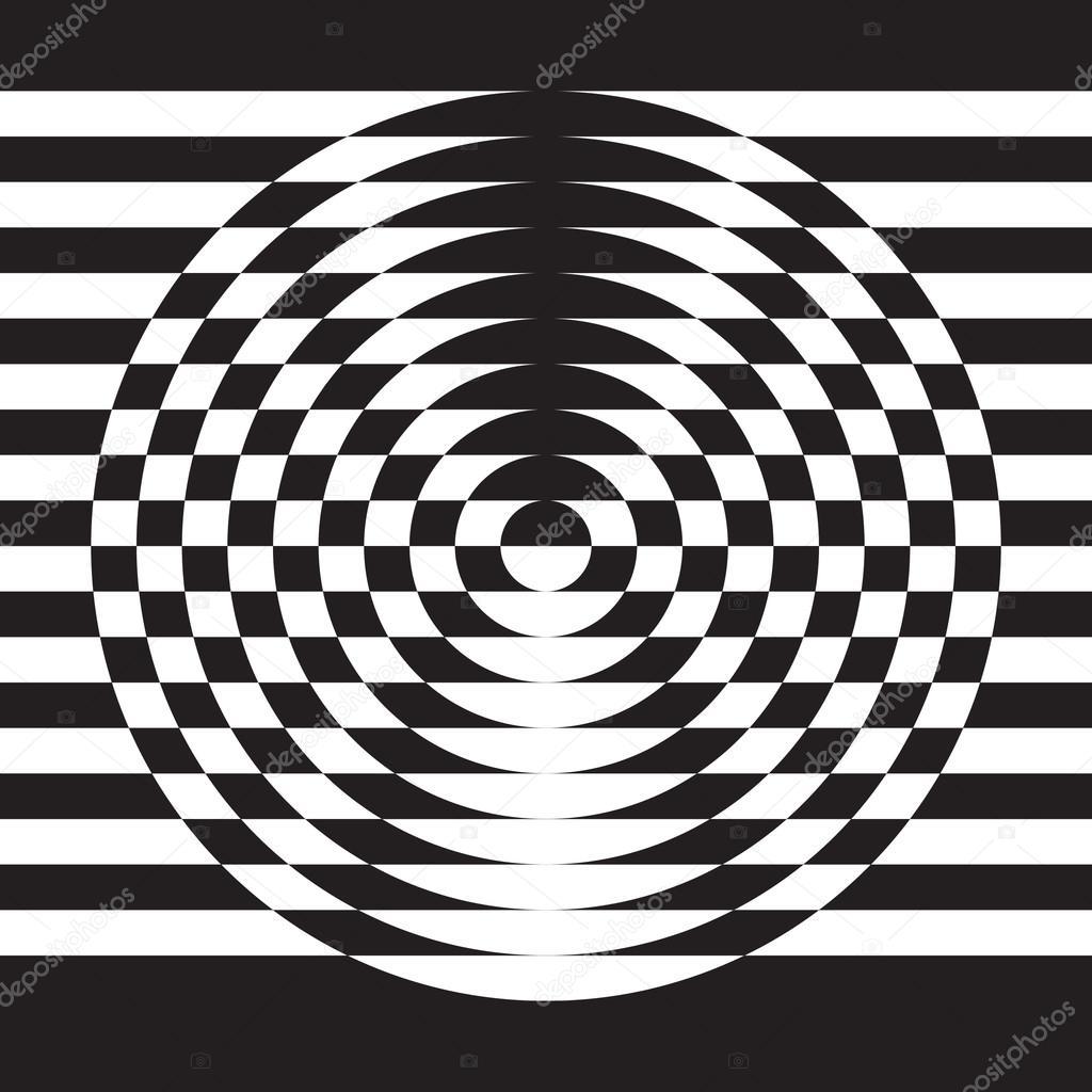 Illusione Ottica Elemento Astratto Di Disegno Geometrico
