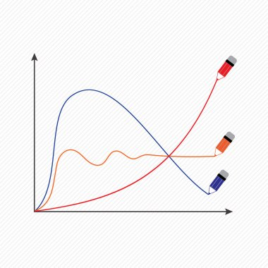 The stylized vector image of a graphical economic