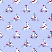 Photo Cute seamless pattern with color paper boats. Vector illustration