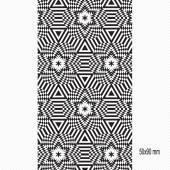 bianco e nero elegante motivo senza soluzione di continuità