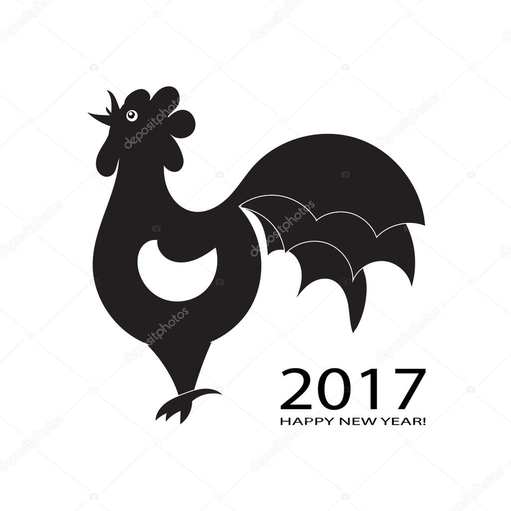 Abstarct rooster Logo template. Vector illustration.
