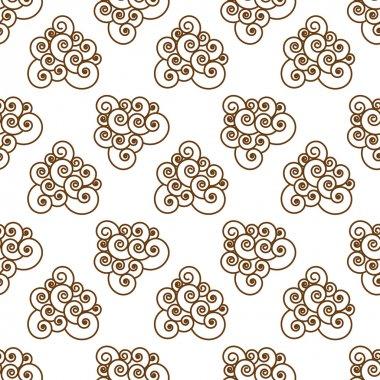 Spirals on a white background.