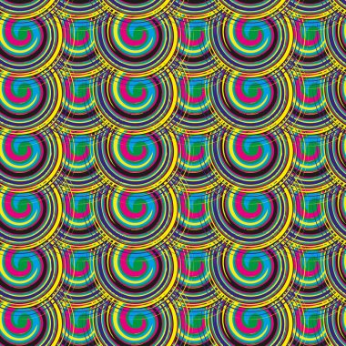 Vector seamless pattern from spiral elements. A background rich with a retro for a brown paper, walls, backgrounds.