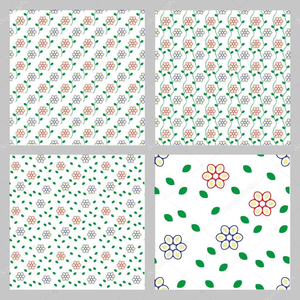 patrones vintage sin fisuras — Archivo Imágenes Vectoriales © tanuna ...