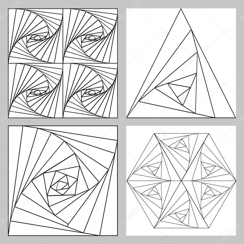 Геометрические узоры из квадратов