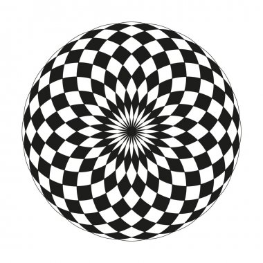Monochrome elegant pattern. Black and white geometric circular pattern.