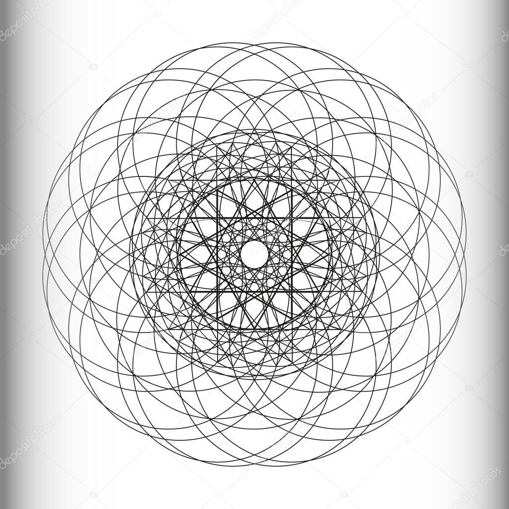 Круговой узор в векторе 91