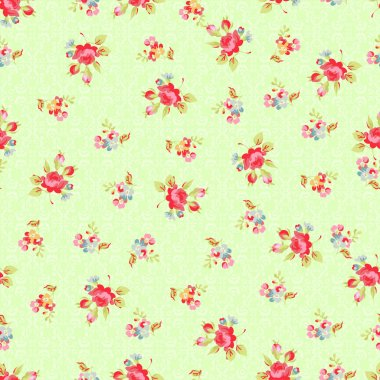 pattern with sforget-me-not flowers and  roses