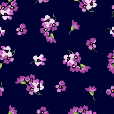 floral patter with little pink flowers