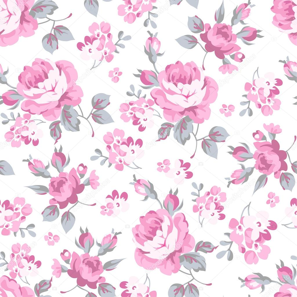 Seamless pink floral pattern - photo#50
