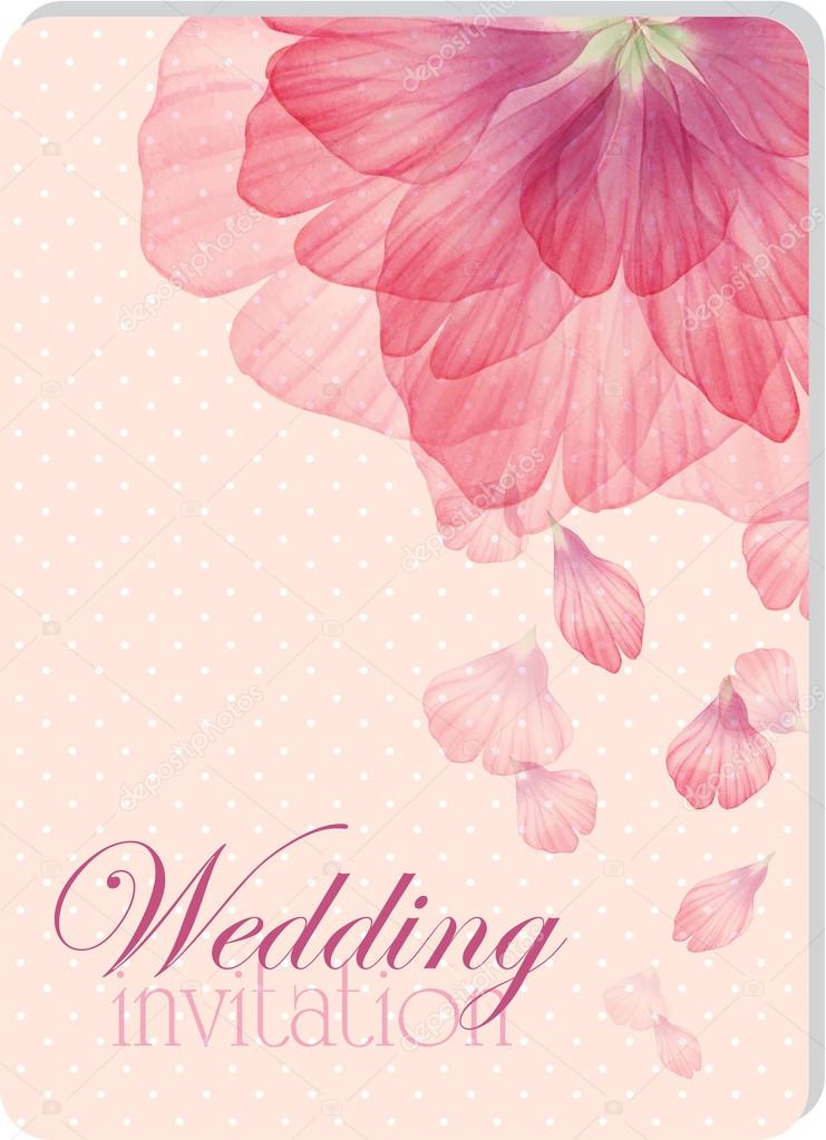 Watercolor greeting floral card