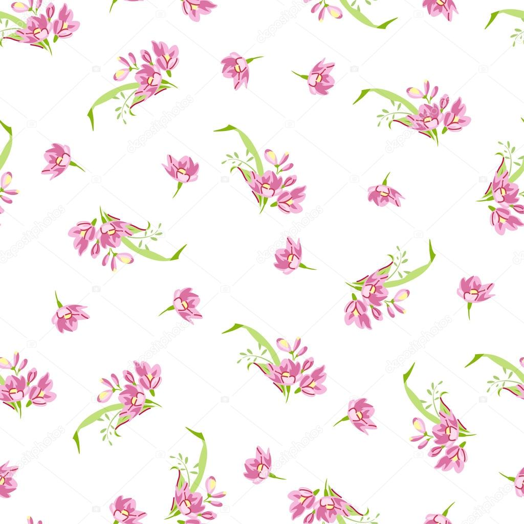 Pattern with pink little flowers stock vector lovelava 91193946 pattern with pink little flowers stock vector mightylinksfo