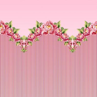 pattern of white pastel roses
