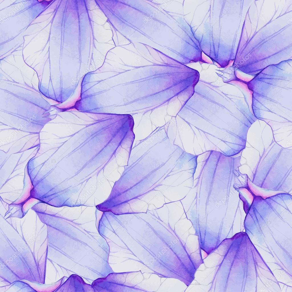 Pattern With Purple Flower Petals Stock Vector Lovelava 91201794