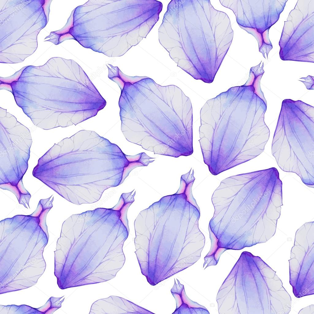 Pattern With Purple Flower Petals Stock Vector Lovelava 91201928