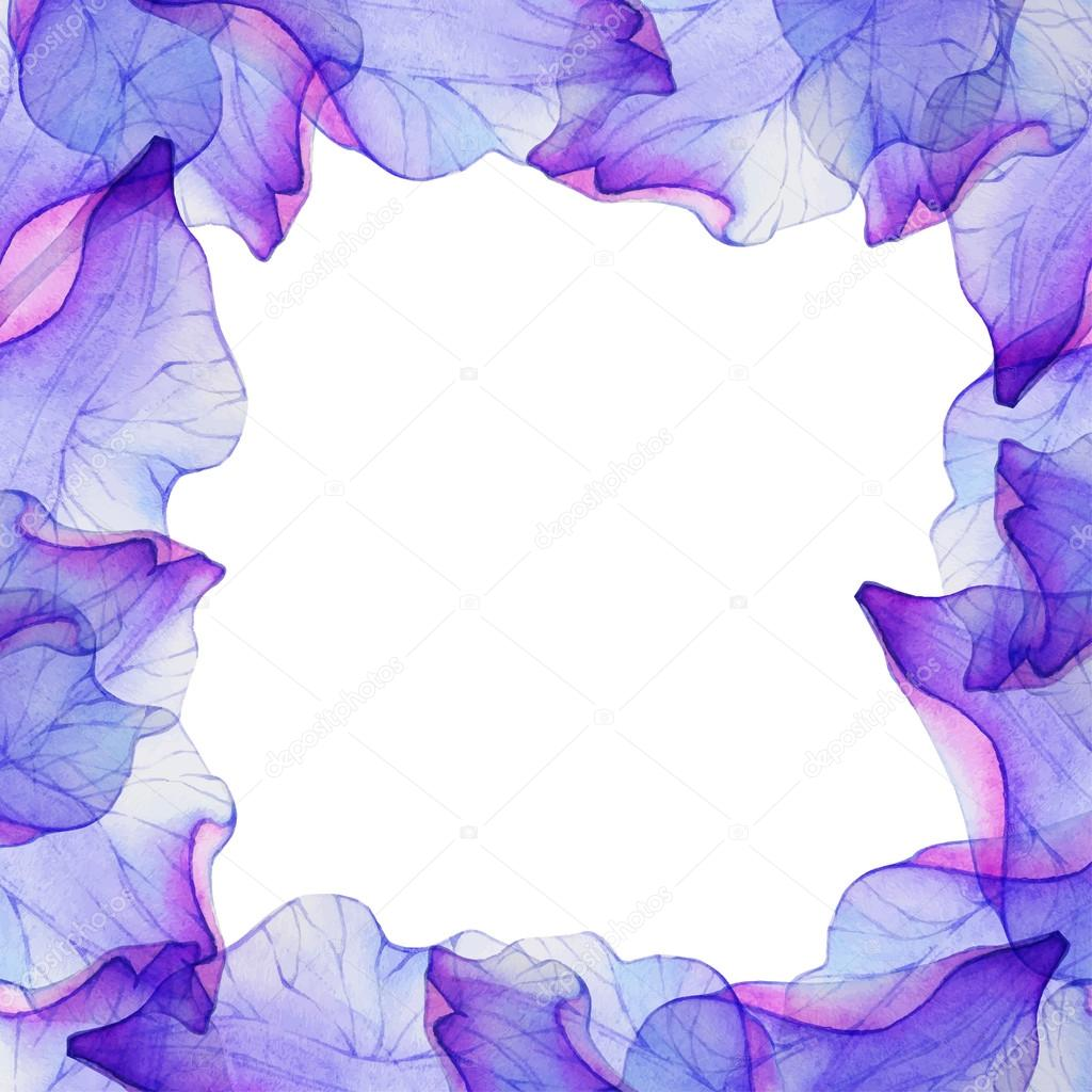 Frame with purple flower petals stock vector lovelava 91202014 frame with purple flower petals stock vector mightylinksfo