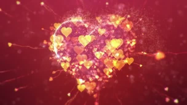 Valentin-nap absztrakt háttér, loopable.