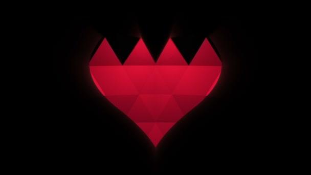 Den svatého Valentýna abstraktní pozadí. Rozkládání velké srdce