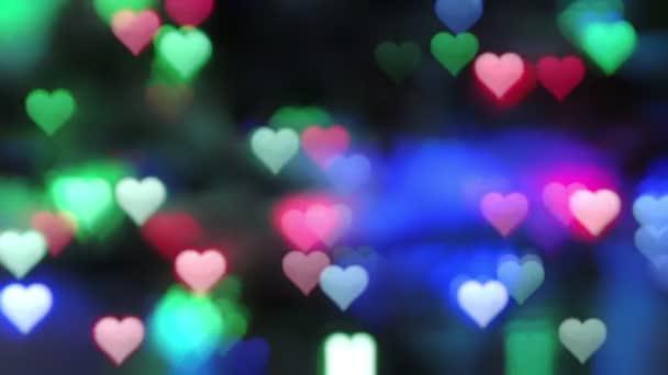 Blikající srdce na tmavém pozadí