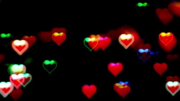 Den svatého Valentýna abstraktní pozadí, blikání srdce