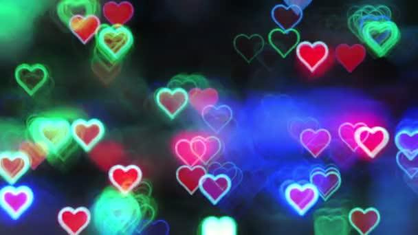 Valentin-nap absztrakt háttér, villódzó szívek