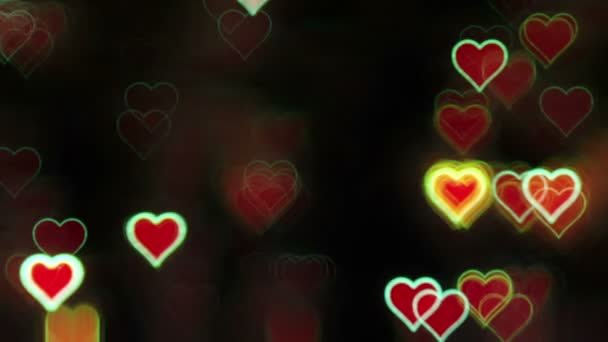 Valentines day abstract background,flickering hearts