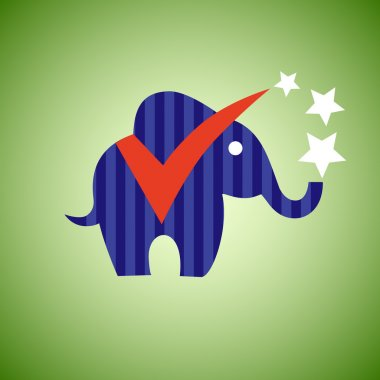 Election elephant. Vote in USA 2016