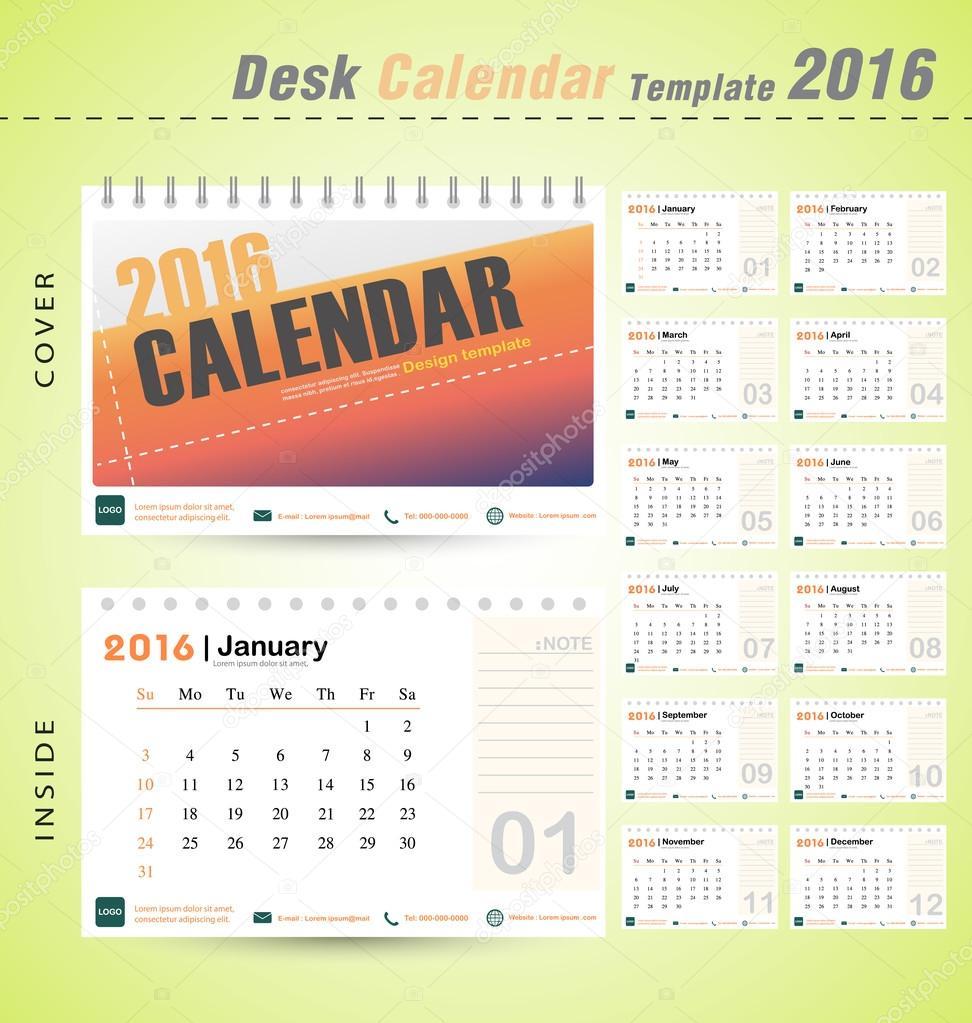 office naptár sablon Asztali naptár 2016 vektor modern design sablon office ábra  office naptár sablon