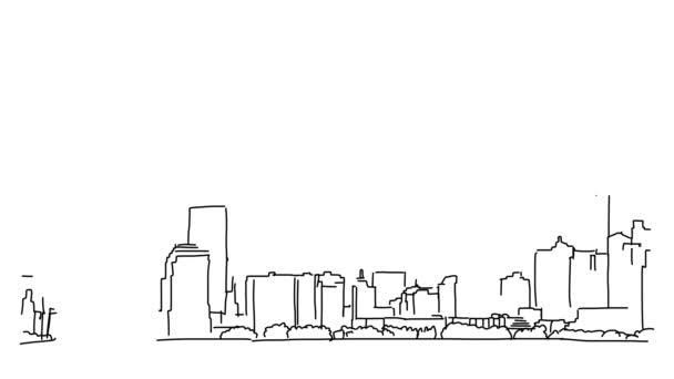 New York se Socha svobody osnovy animace