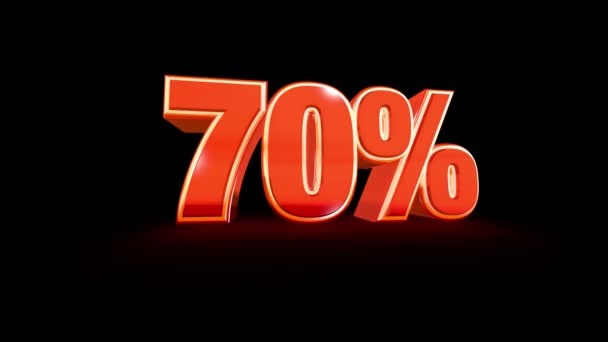 70 Prozent Verkaufsmaterial auf schwarz