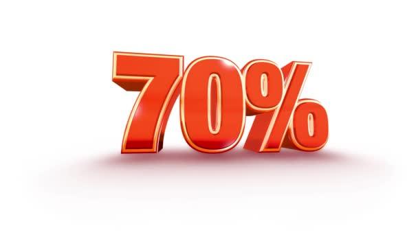 70 Prozent Verkaufsmaterial