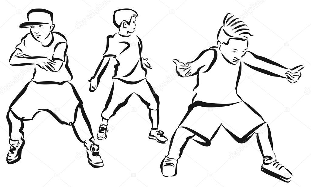 Uitzonderlijk Drie jongens, kleurplaten pagina Hip Hop choreografie #SZ09