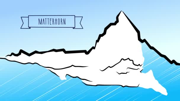 Matterhorn Hand drawn Outline Animation