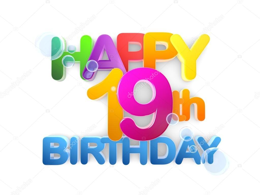 boldog 19 születésnapot 19. Boldog születésnapot cím fény — Stock Fotó © mail.hebstreit  boldog 19 születésnapot