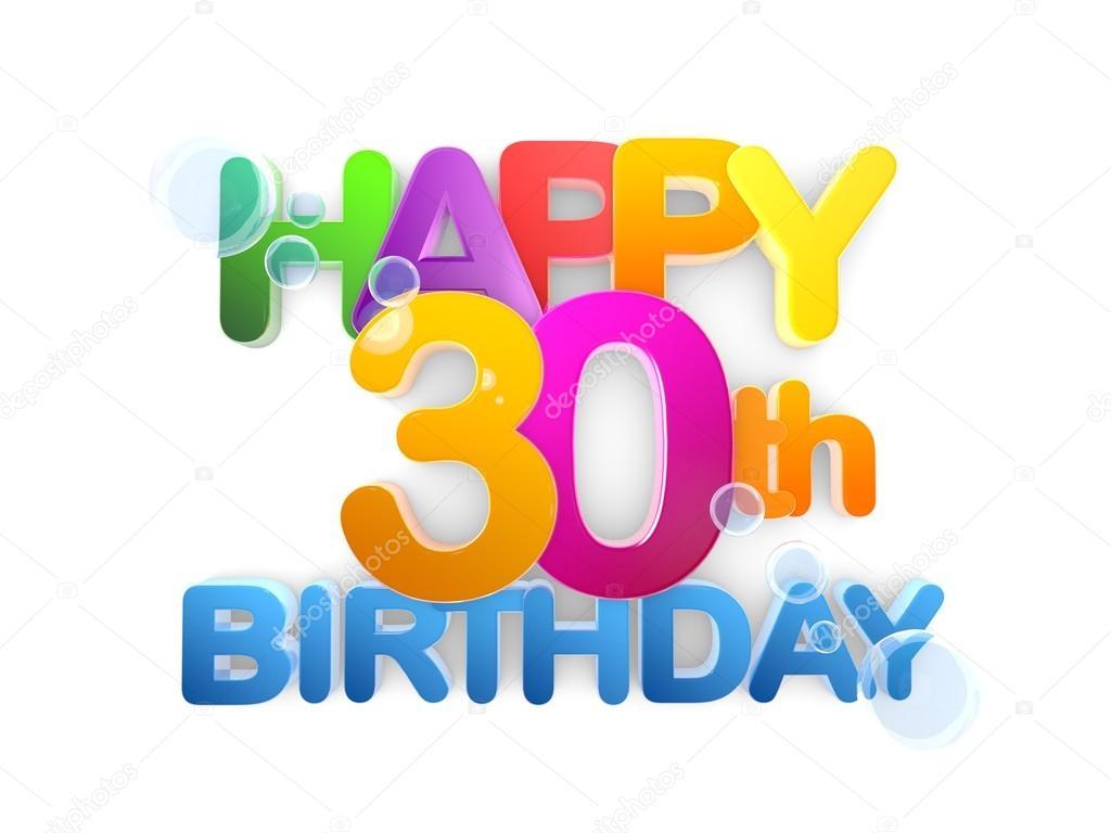 Gelukkig 30e Verjaardag Titel Licht Stockfoto C Mail Hebstreit