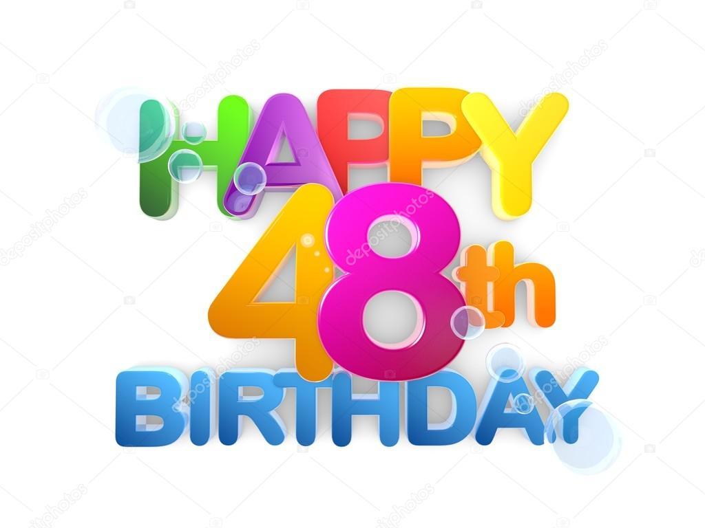 Gelukkig 48e Titel Verjaardag Licht Stockfoto C Mail Hebstreit