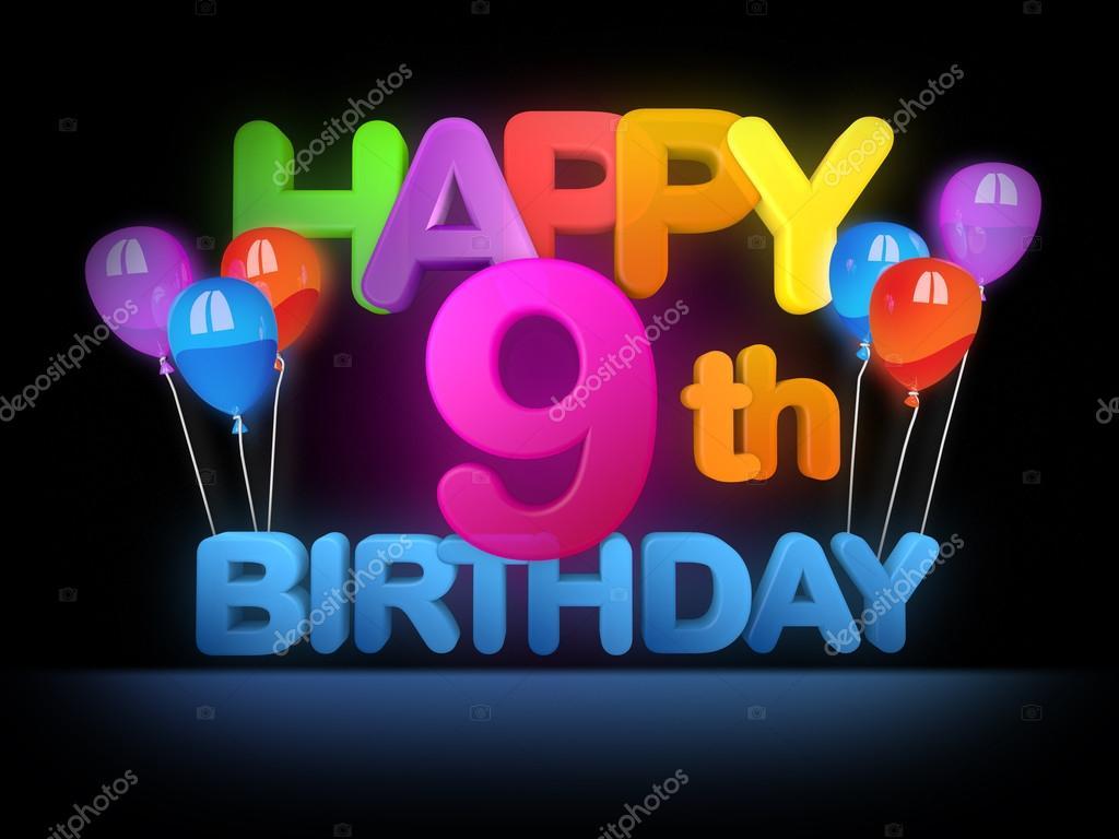 happy 9th birthday title dark stock photo mail hebstreit com