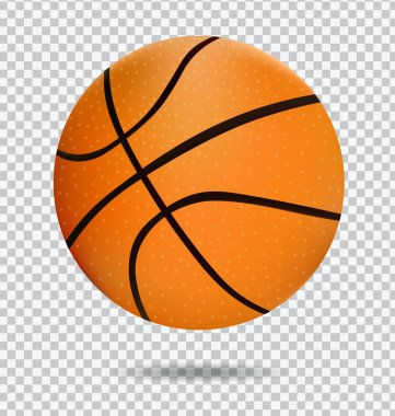 Realistic Basketball BallIcon .  Sport Equipment Symbol Illustration. Isolated On White Background