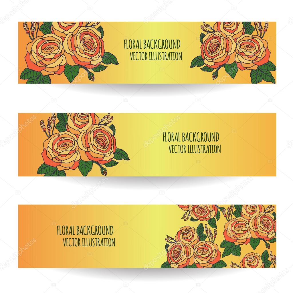 Vintage colourful background with hand drawn roses vector floral vintage colourful background with hand drawn roses vector floral template for greeting card invitation stopboris Image collections