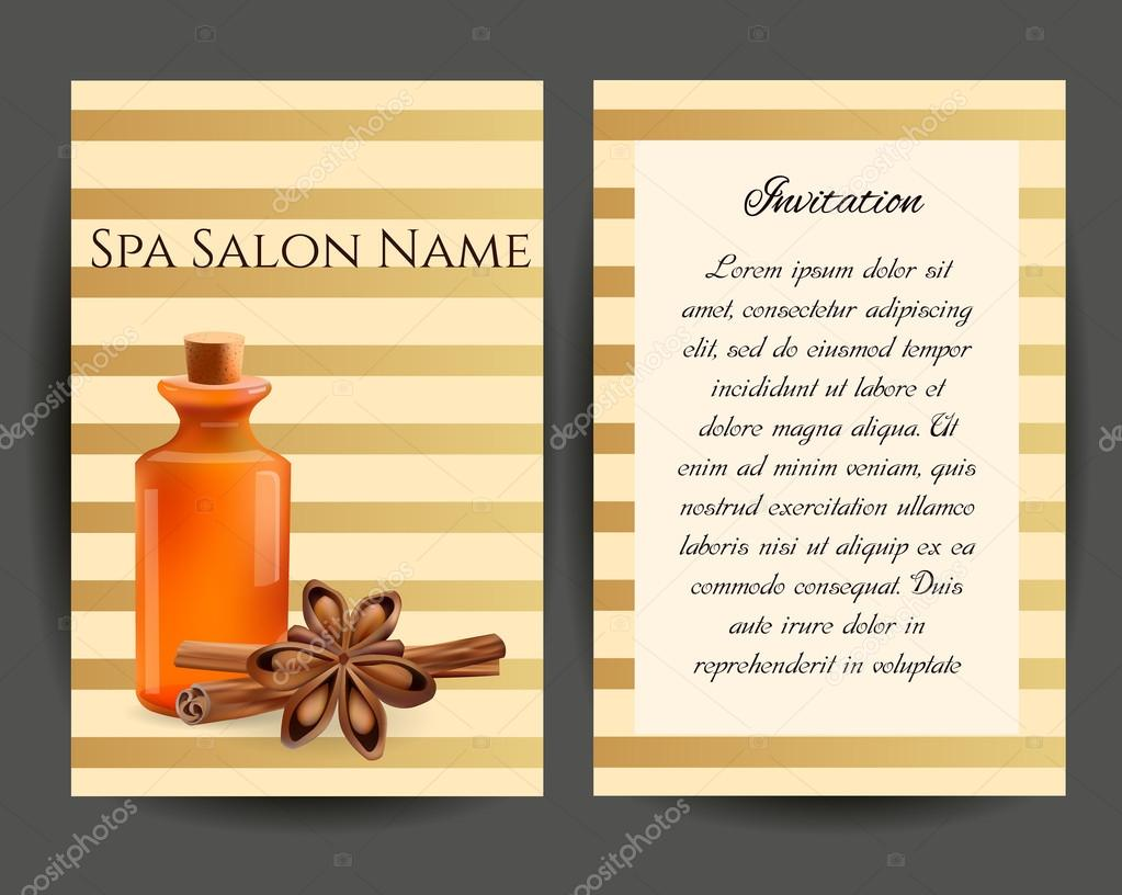 Oil Cosmetic Bottle with Cinnamon Sticks and Anice . Template  C