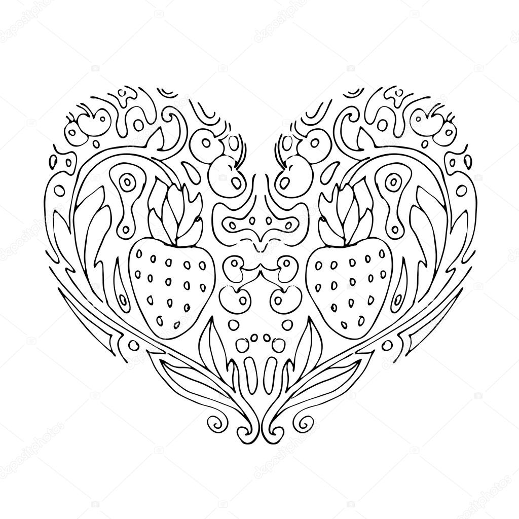 valentines day card coloring book for adult and children coloring page outline drawing vector printable typography for posters flyers cards t shirts