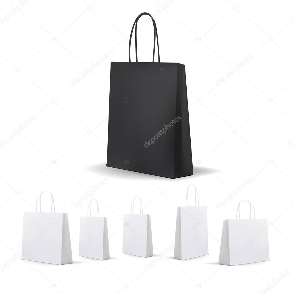 blank black and white shopping bag vector illustration stock rh depositphotos com shopping bag vector icon shopping bag vector illustration