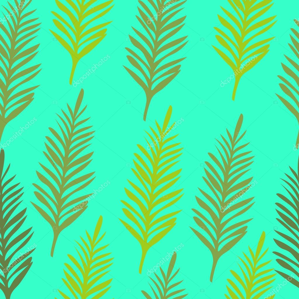 palm leaf silhouettes seamless pattern vector illustration