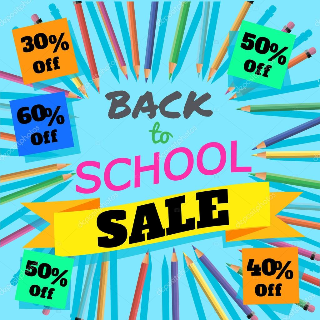 Back to school sale background with colorful pencils with header back to school sale background with colorful pencils with header welcome posterbanner brochure templatector illustration vector by sunnyred pronofoot35fo Gallery